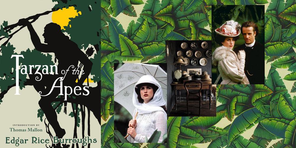 Tarzan & Jane Moodboard, Tassels & Tigers Themed Interiors