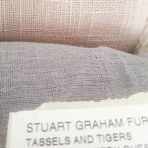 Stuart Graham Fabrics from the Atmosphere collection used by Tassels & Tigers Interiors for sheer linen look curtains