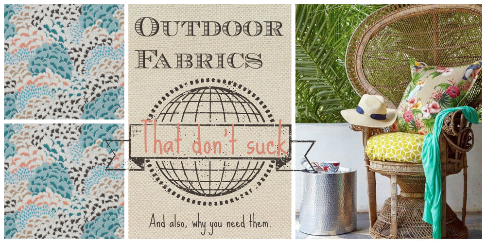 Outdoor Fabrics that don't suck. Also why you need outdoor fabrics in South Africa. Tassels & Tigers Interiors Decor Blog