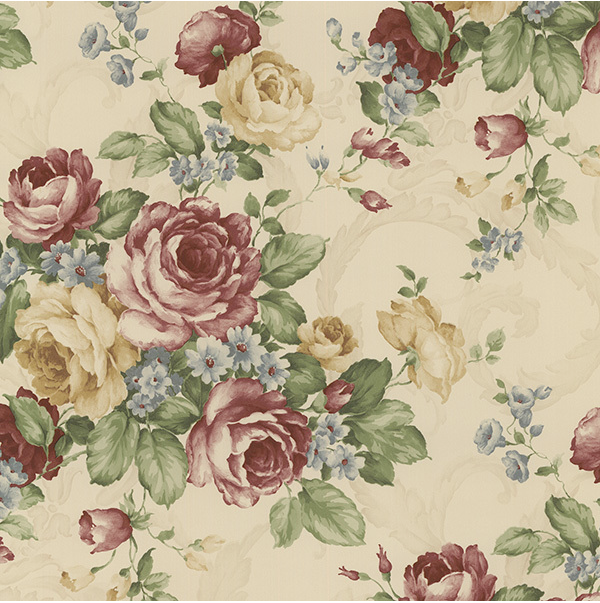 vinatege yellowed red adn green floral roses wallpaper.png
