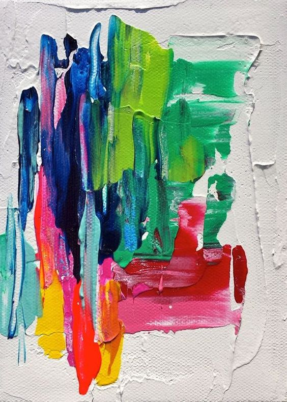 abstract impasto art for texture