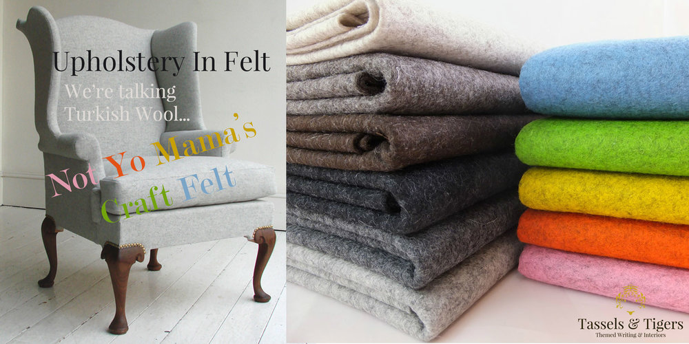 Upholstery in felt fabric or real wool is the latest interior decor trend coming soon to South Africa