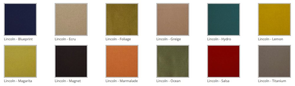 Lincoln - 86% Turkish Wool Felt.  Available in various muted colours from Hertex.  Made up by Tassels & Tigers Interiors.