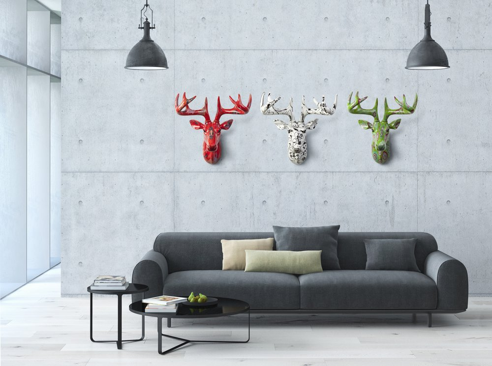 Pomme-pidou deer heads buy from Tassels & Tigers online decor store, South Africa