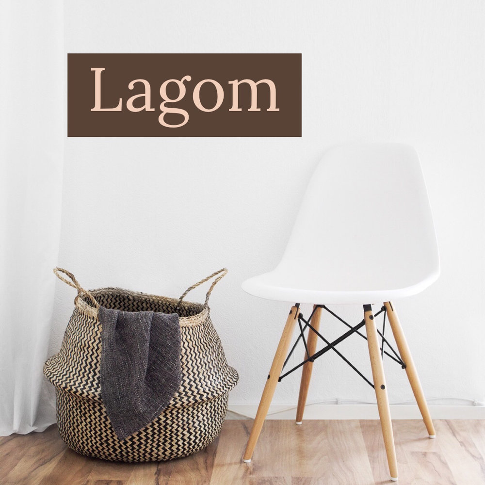 The decor philosophy of lagom as understood by Tassels & Tigers Interiors decor and design blog and online store