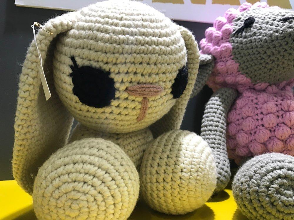 sweet crocheted bunny from Decorex JHB 2018