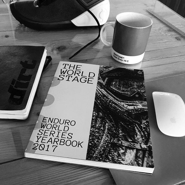 Some seriously legit reading matter dropped into the studio recently. Give your eyes a treat and check out @misspentsummers latest and greatest creation @theworldstagebook, capturing the EWS 2017 in all of its epic glory. . #theworldstage #enduroworldseries #printlives #screenbreak #mtbbook #onlywhatsnecessary