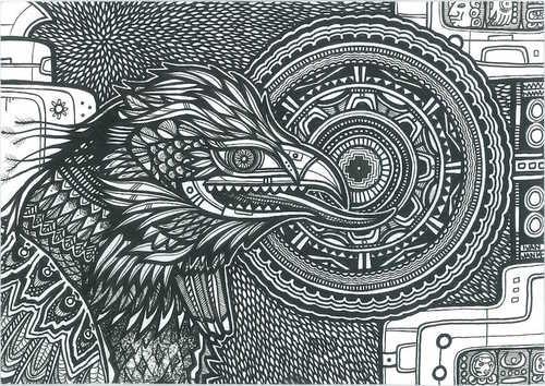 bird mandala monsalveco