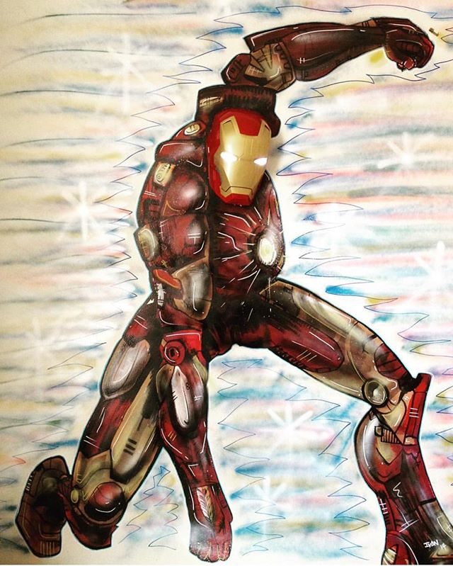 The time I painted Ironman on a good friends sons wall!