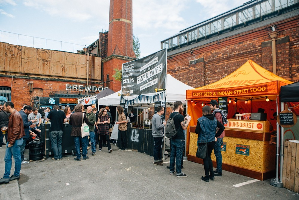 street food stalls manchester photography