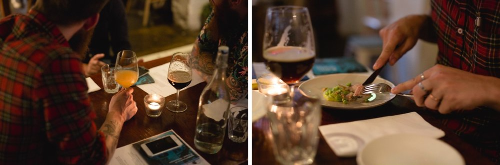Wild Beer x Ox Club tasting menu