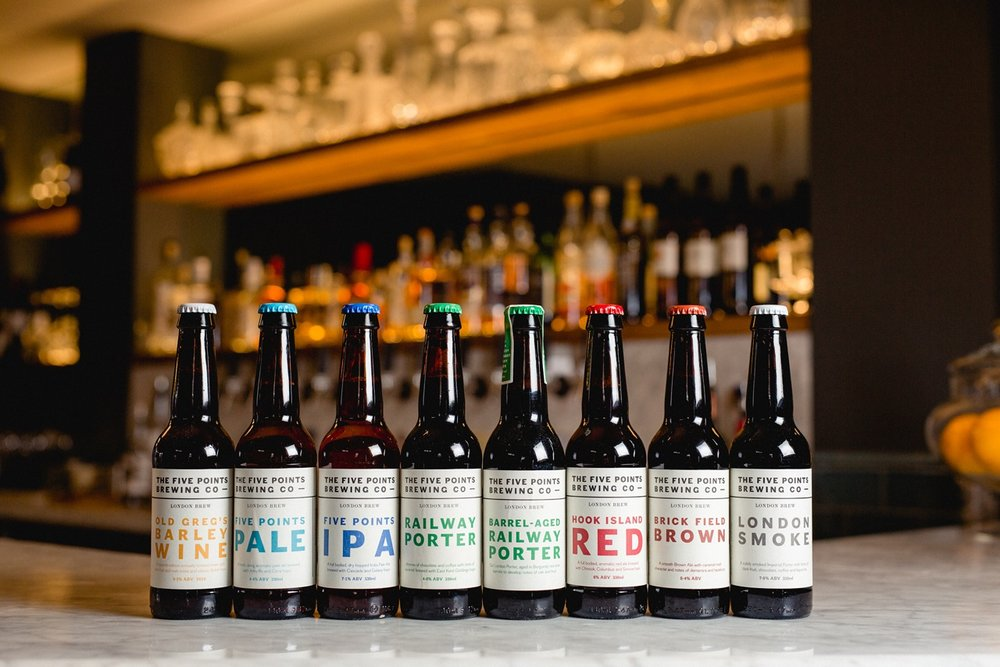 product photography for Five Points Brewing co shot at turks head leeds