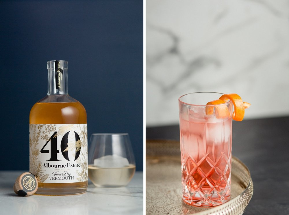 40 Vermouth by albourne estate product photographer