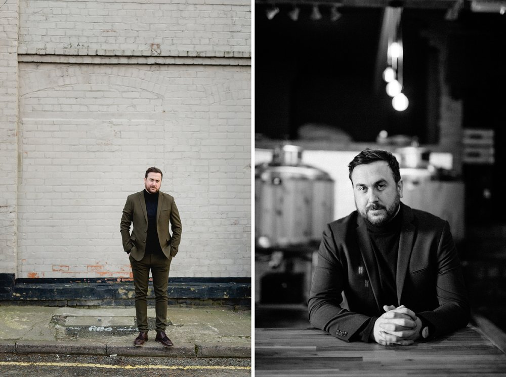 Editorial Portrait of Steven Burgess in Liverpool Baltic Triangle