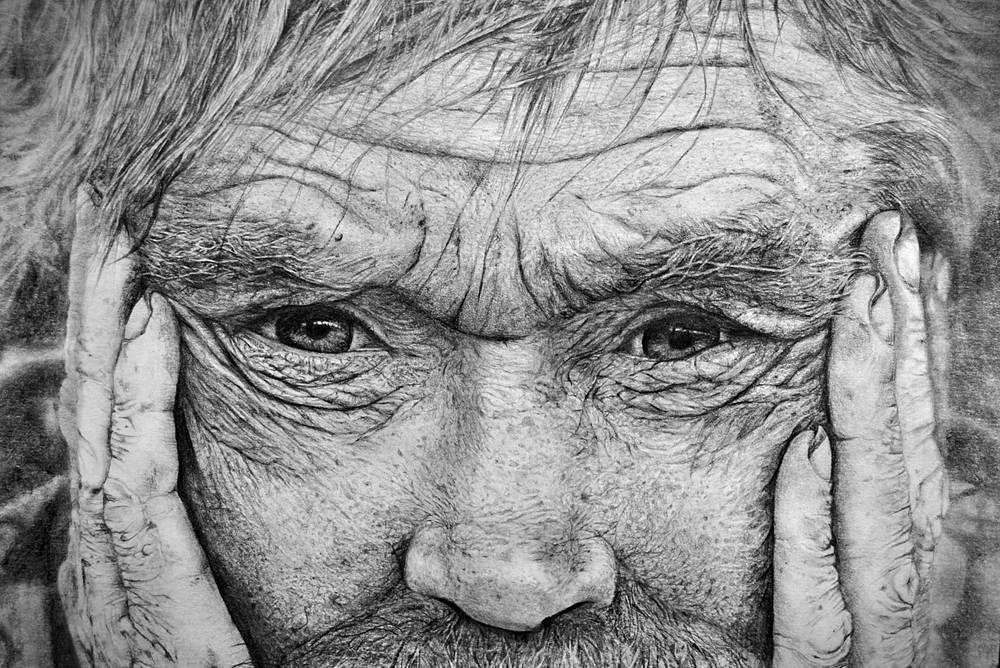Old Man, 210 × 297mm, 0.5mm Pencil on Paper, 12-06-2016