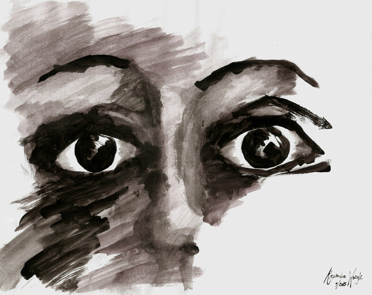Indian Ink on Paper, 9-15