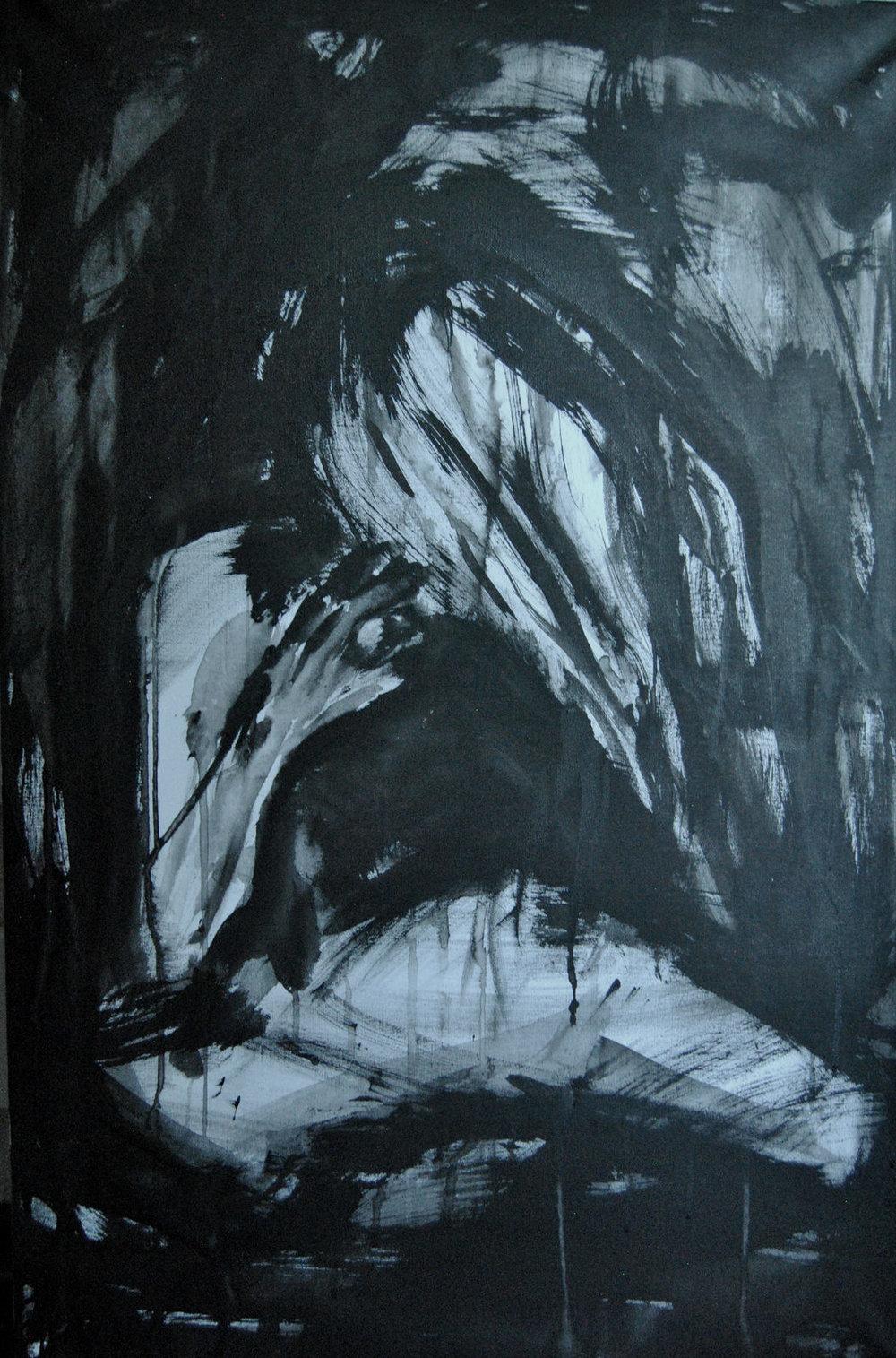 Figure, Acrylic on Canvas, 594 x 841 mm 17-11-15