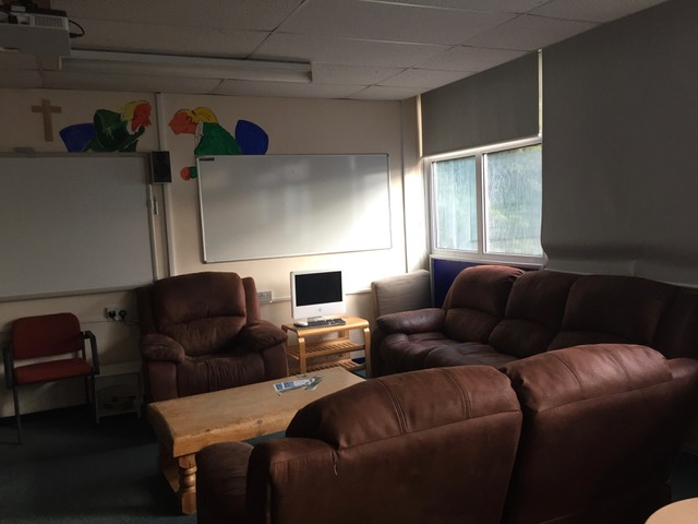 Emmaus gets style. -  Today, The Emmaus Centre, a Step cafe space in Nicholas Breakspear Catholic School, received a lovely donation of three beautiful and relaxing leather chairs. Perfect timing to make the current Alpha course more enjoyable.