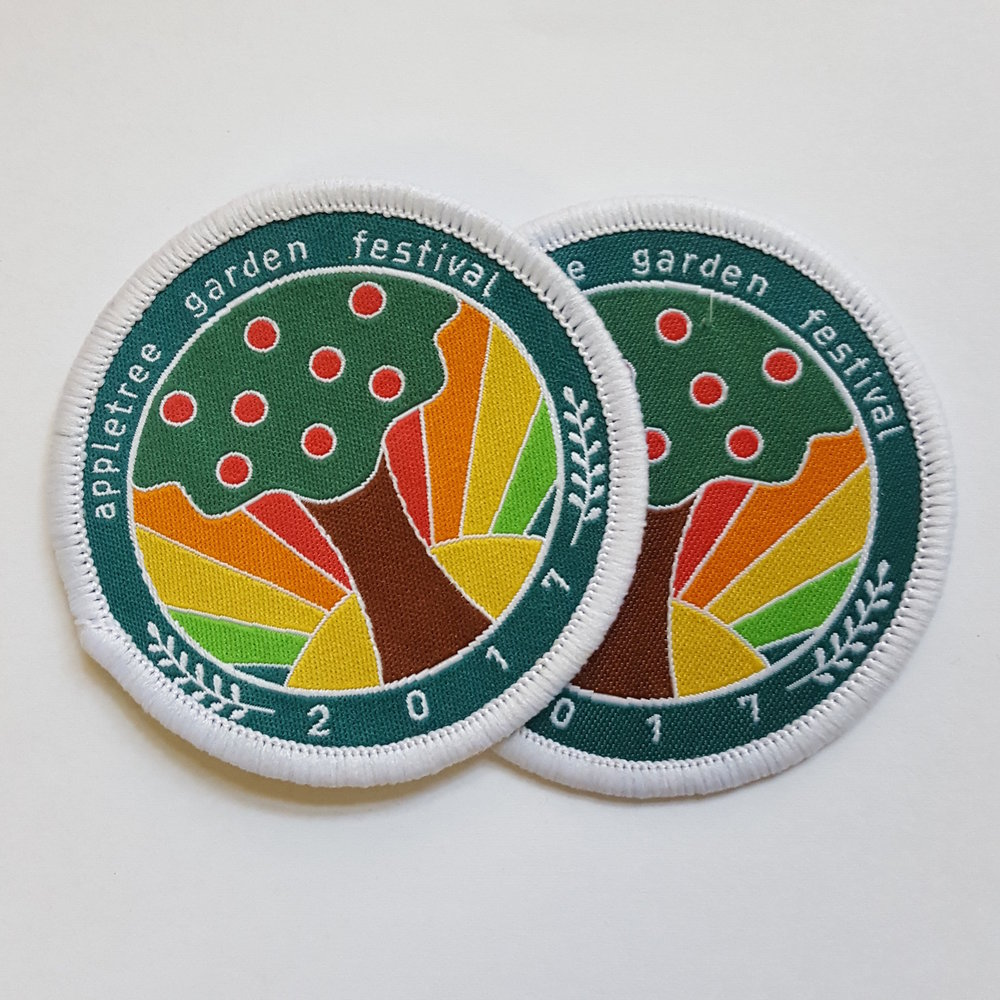 Embroidered patch for appletree garden festival
