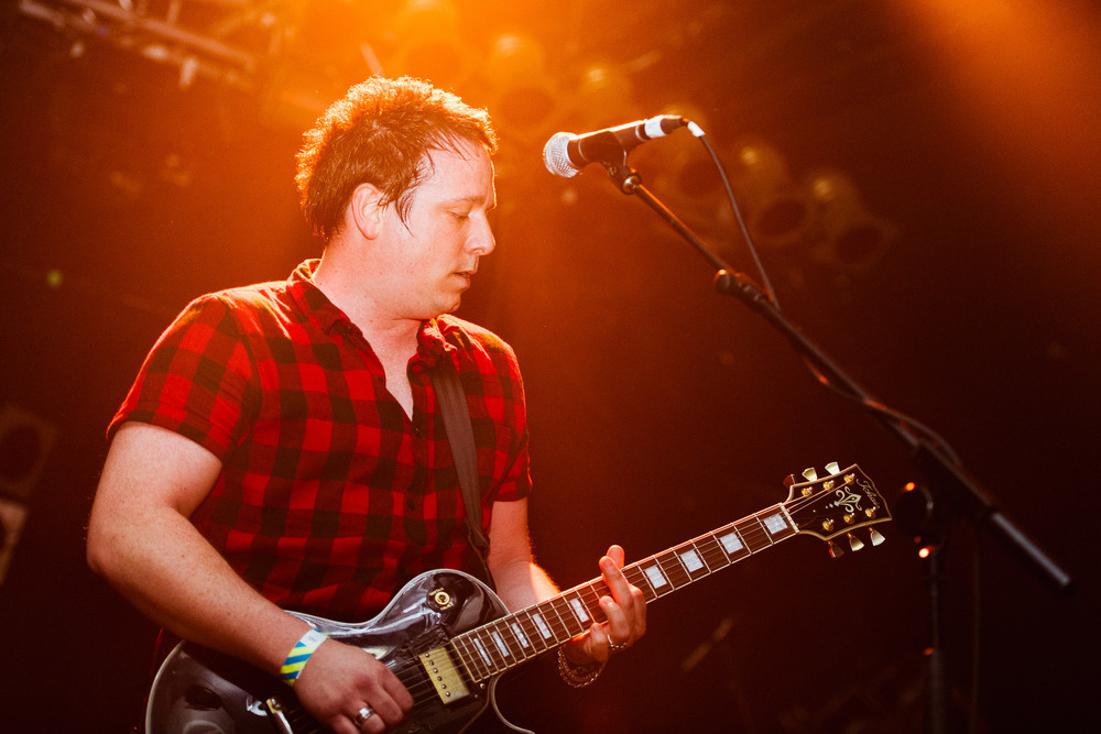 Future Of The Left at The Electric Ballroom - Ian Catskilkin, touring guitarist