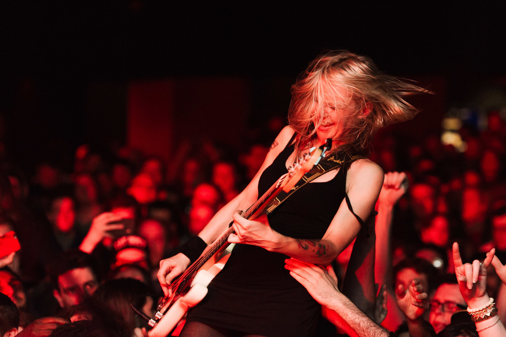 Future Of The Left at The Electric Ballroom - Julia Ruzicka crowdsurfing