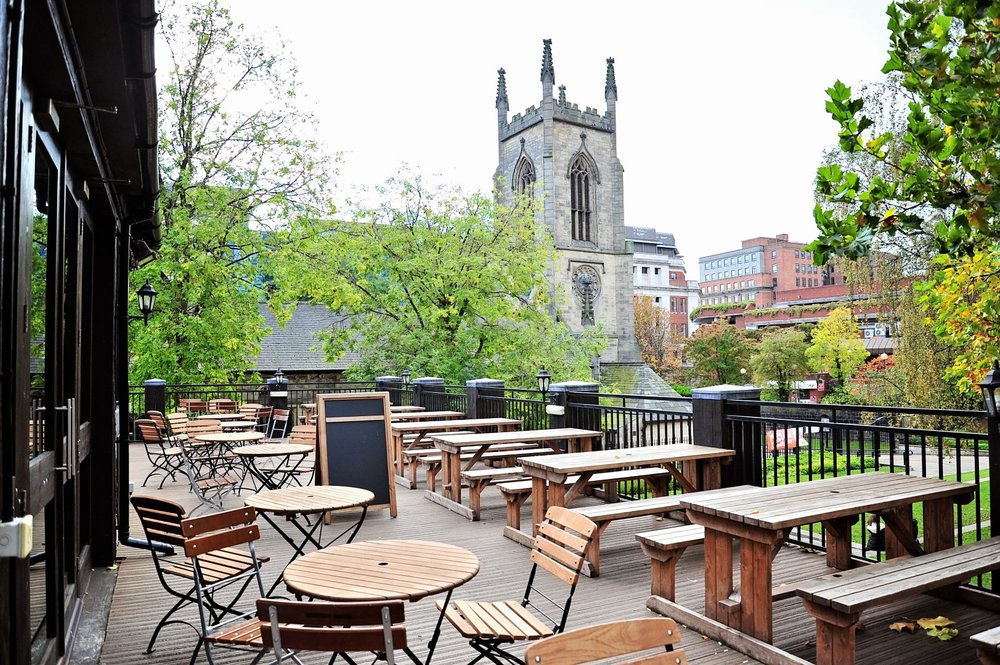 Outside seating - Parkside Tavern has two outside areas that are available to reserve without a hire charge. The rear courtyard is suitable for 120 people and the terrace overlooking the park is suitable for up to 50 people. Both areas get good amounts of sun (when he shows his face).