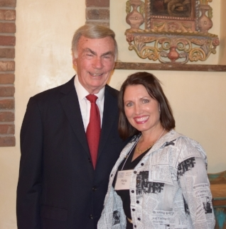 Mr. Sam Donaldson at our state's annual press women conference.