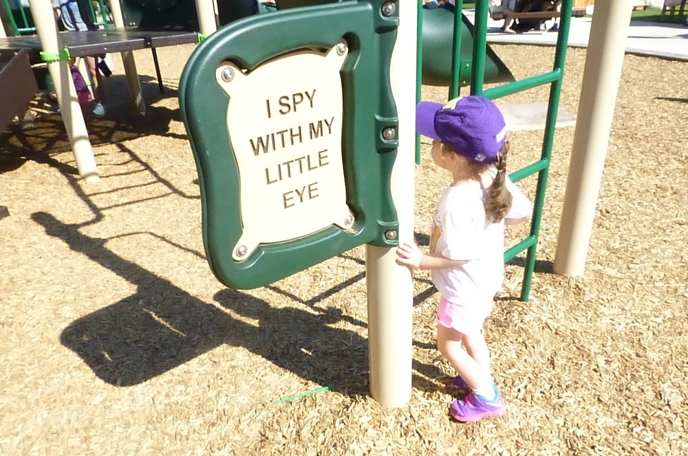 """I Spy with My Little Eye"" playground."