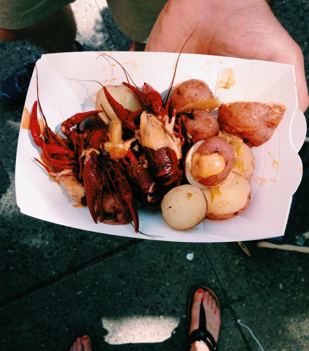 Bourgeois' Louisiana style crawfish boil