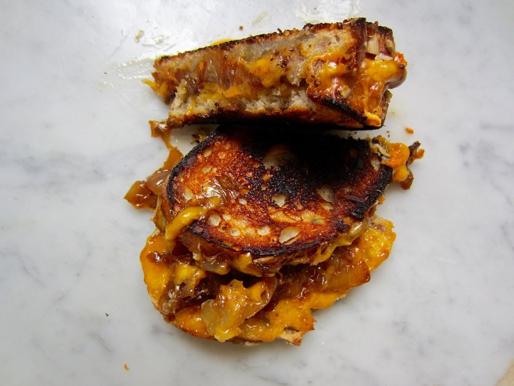 click for the recipe for this sweet potato and caramelized onion grilled cheese I made a few years ago.