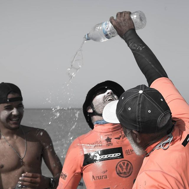 #ddk2017  Sidi Ali has given the mission to refuel and refresh the riders throughout the Dakhla Downwind ! #sidialiwater