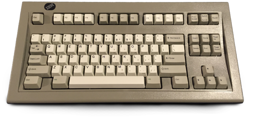 "IBM's ""Space Saving Keyboard"" Model M Variant (Wikipedia)"