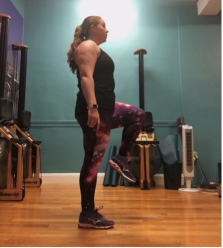 Challenge: Add a small jump or hop at the top of the front raise