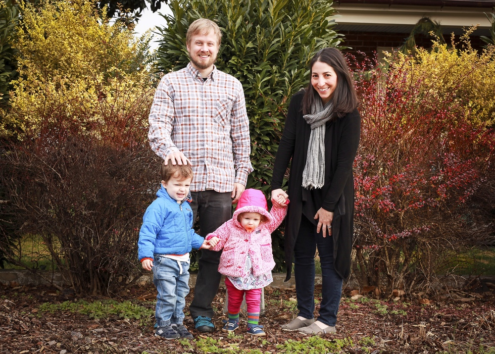 Breathless Paper Co. founders Matthew & Jessica Berinato with their kids, River & Scout.