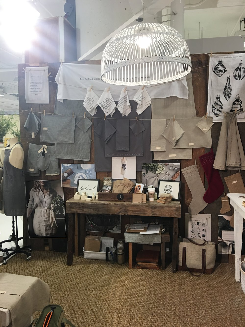 heirloomed collection always perfects her booth.