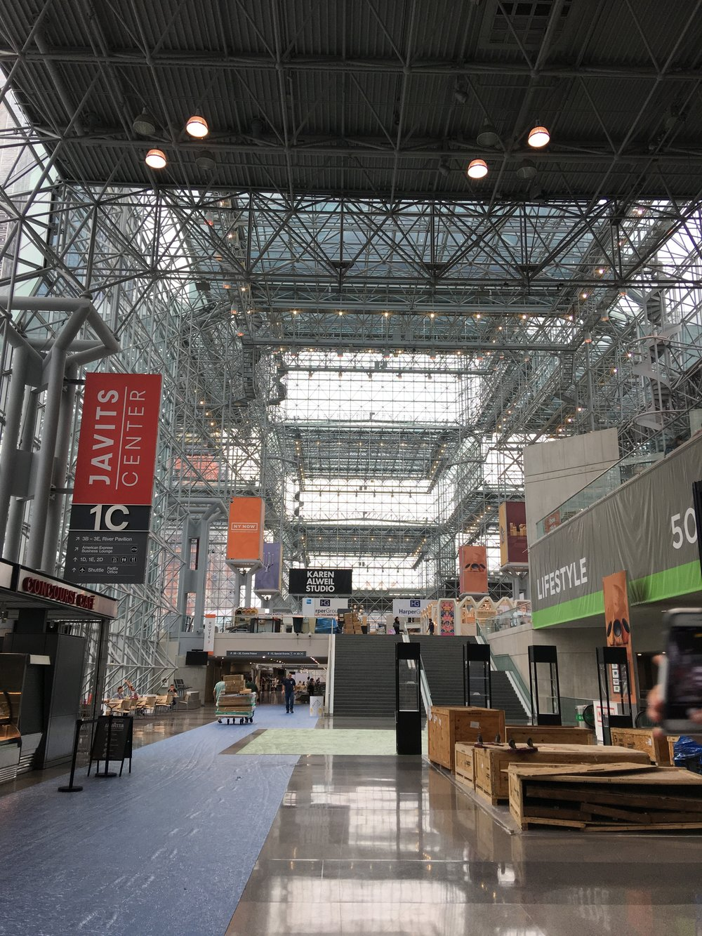 Arriving at the Javits Center, ready to go!