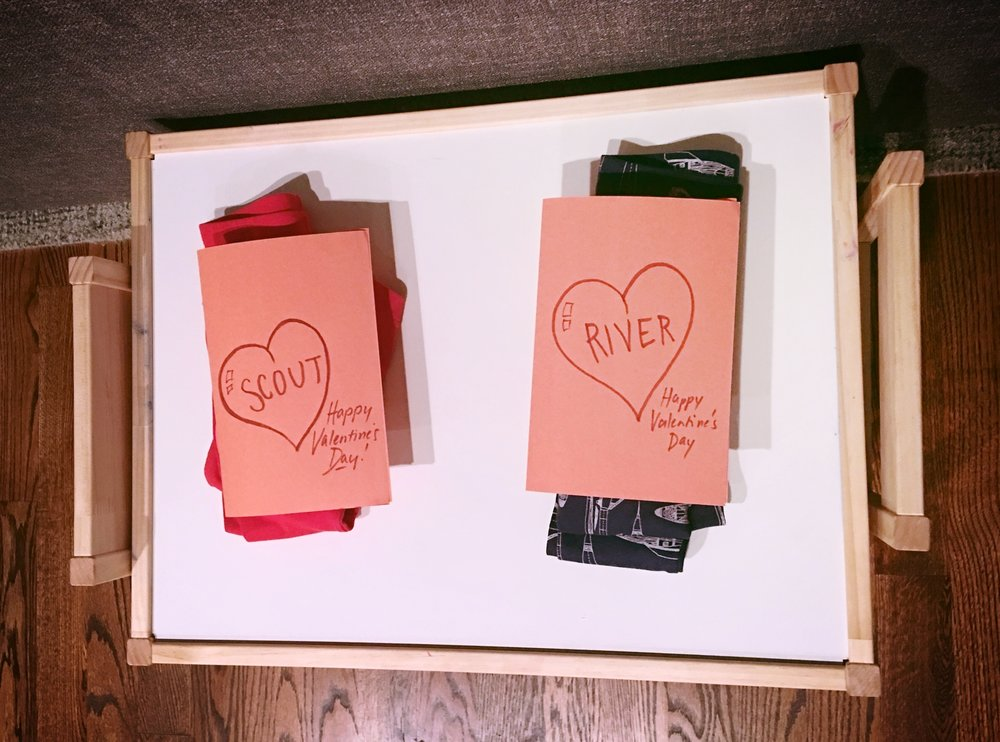 What Valentine's looks like at our house. We love hand-written notes ;)