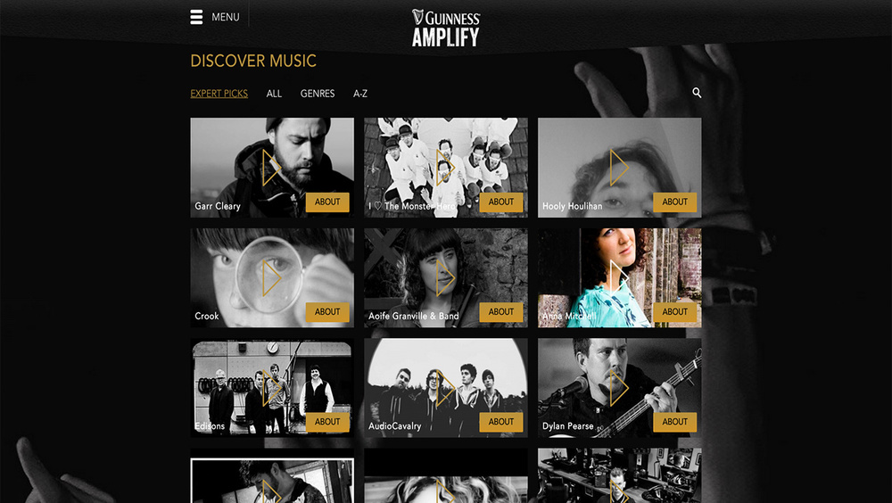 Guinness - Amplify website