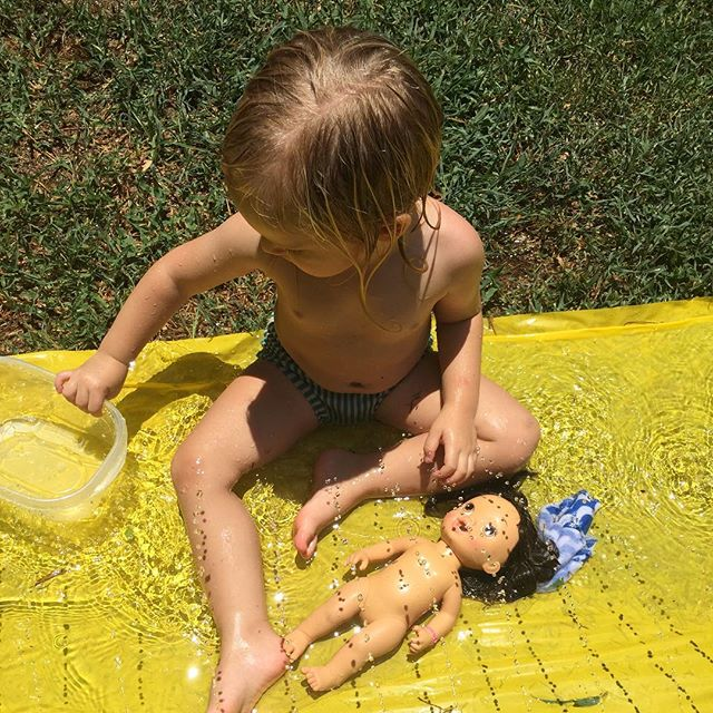 My little water bug!! ☀️💦