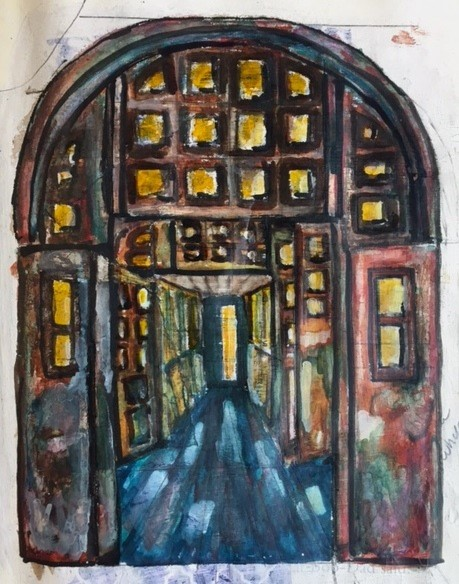 Archway detail wax painting.jpg