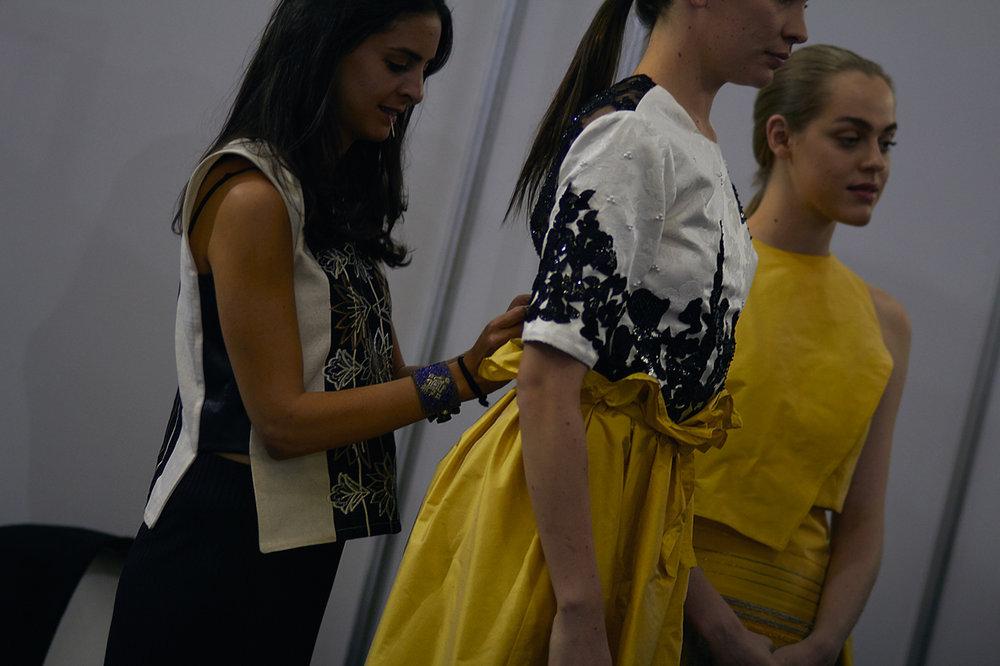 Backstage Denisse Kuri, Exintex