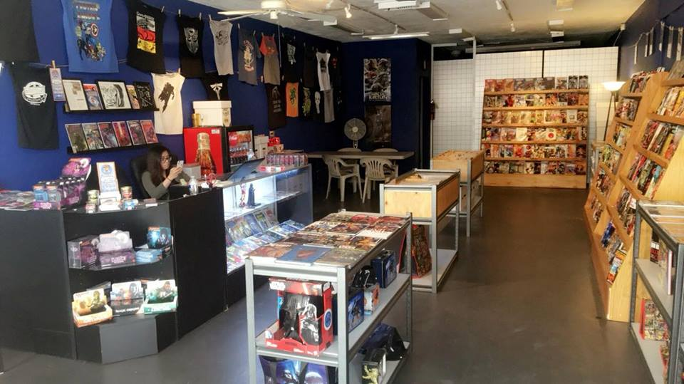 Inside of Interstellar Comic Books & Collectibles today