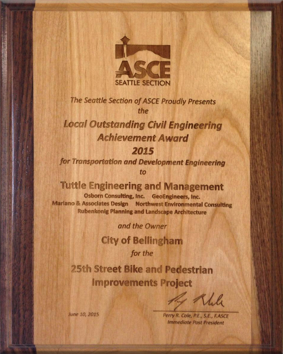 2015 Local Outstanding Civil Engineering Achievement Award