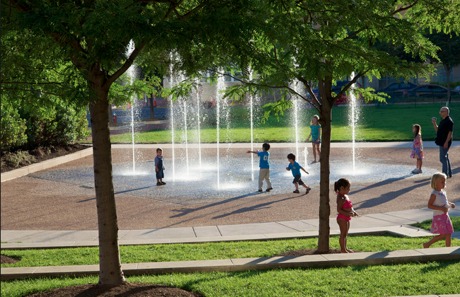 Water fountains, perfect for the kids on a hot summer day. Would your family enjoy something like this?