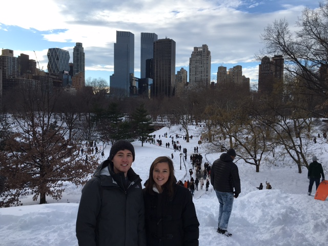 Jacob & Liza Stoner in Central Park January 23, 2016