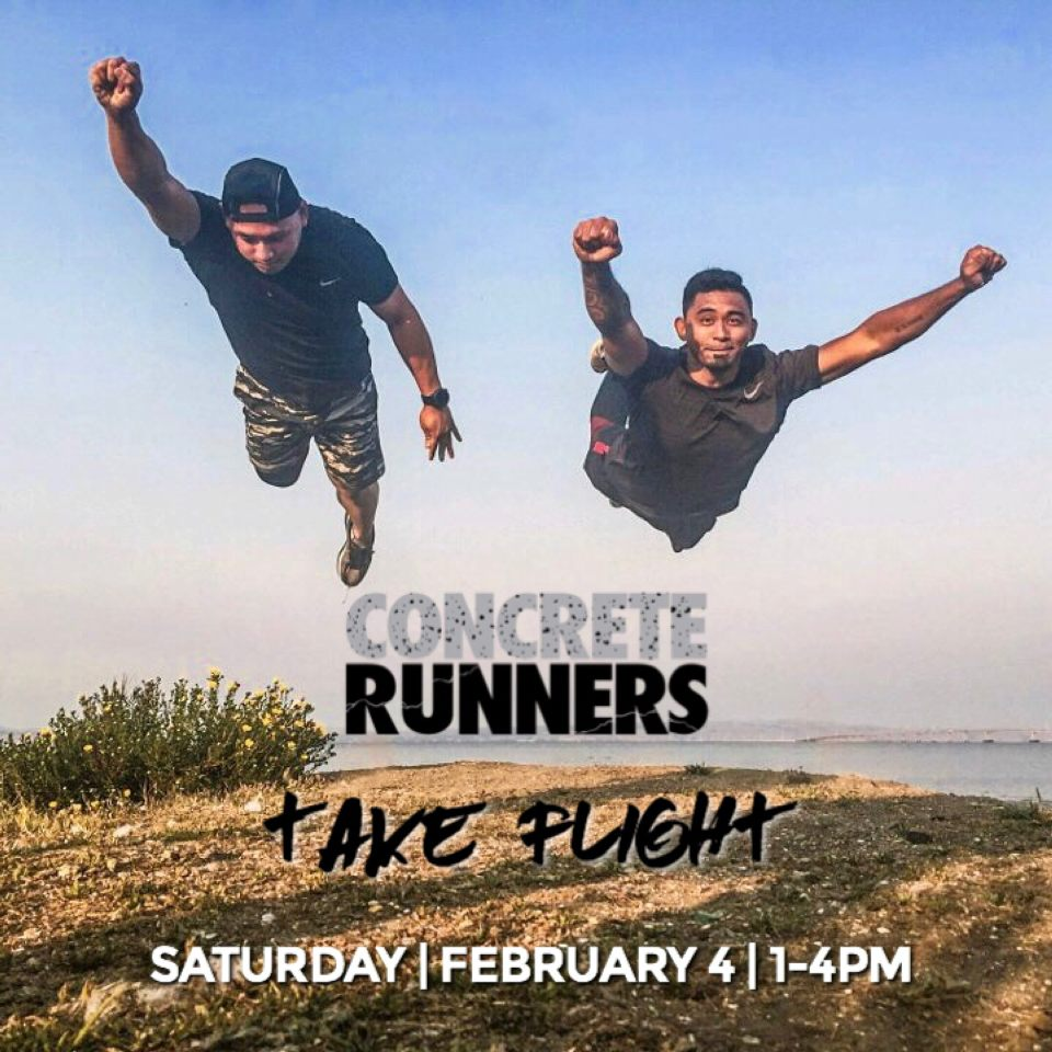 Take flight with us this Saturday! Rene & Don will be hosting a 5k run along with flight training! When: February 4th Where: Skyline College / San Bruno Time: 1-4pm Street Parking across from the track in the residential area.