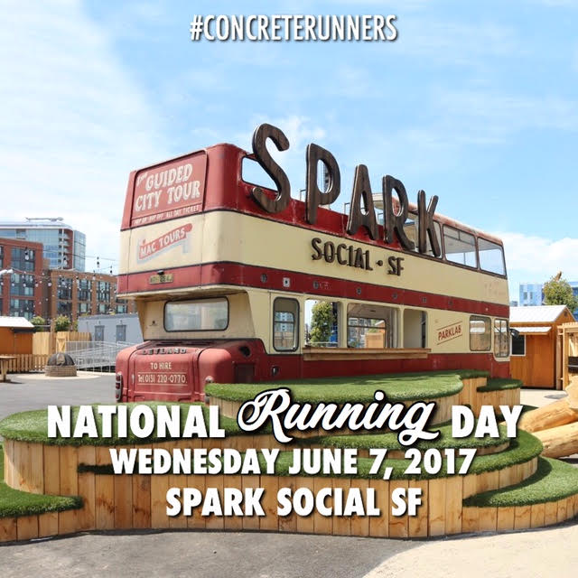 What a better way to celebrate National Running Day other than taking FLIGHT with your CRew! We'll be changing our normal Thursday Night Flight to Wednesday this week (6/7) to celebrate OUR day, National Running Day! Join us for a 3 mile run followed by Happy Hour at Spark Social SF! Seats will be reserved for Concrete Runners. Date: Wednesday, June 7th Pilot: CR CRew Flight Deck: Spark Social SF (Mission Bay Boulevard North, SF) Destination: San Francisco, CA Boarding: 6:15PM Departure: 6:30PM Distance: 3 miles