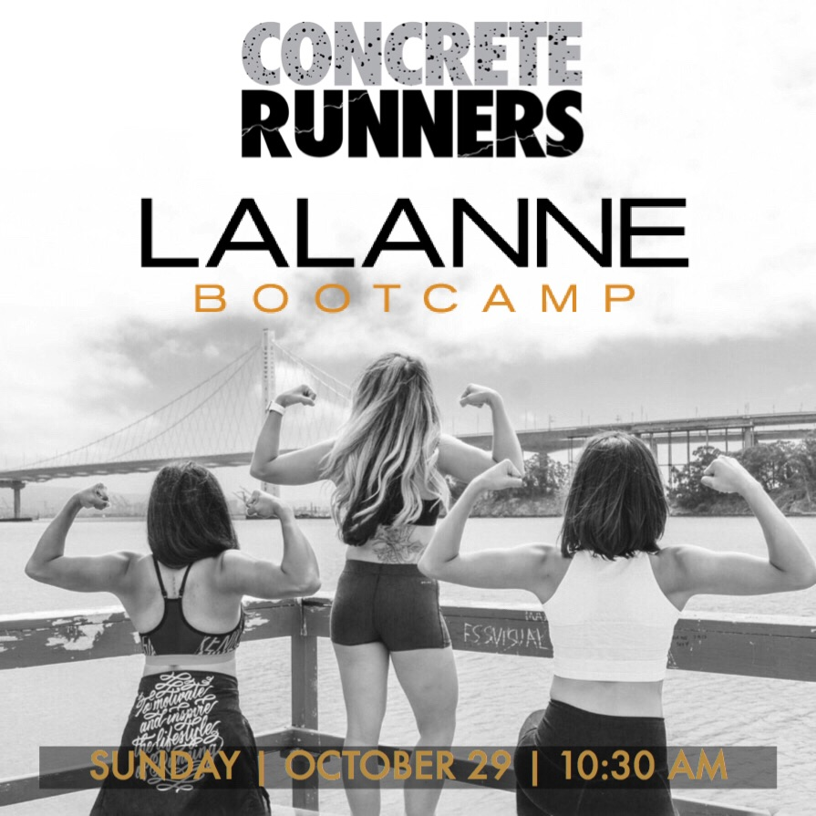 "Join the Concrete Runners for a Sunday sweat session! CR3 Max has graciously invited the CRew to come check out LaLanne Bootcamp for a complimentary class. In this High Intensity Interval Training (HIIT) based Bootcamp experience, you can expect to sweat from work on the treadmill and an air bike, and you'll put in work for your upper body using using free weights. Class is for 1 hour and starts promptly at 11am, but please arrive at 10:30am to properly stretch. The Gym is owned by Chris and Maribel LaLanne who owned and ran LaLanne Fitness Crossfit in SF before its closure earlier this year. Chris is the nephew of Fitness guru/god-father, Jack LaLanne who is well-known in the health and fitness industry for opening the first male and female based health gym and first to actually create a ""Juicer"". More info about them and about their facility www.LaLanneBootcamp.com Due to the limited amount of tickets available, if you can no longer attend, please release your ticket for someone on the waitlist. https://cr_lalannebootcamp.eventbrite.com"