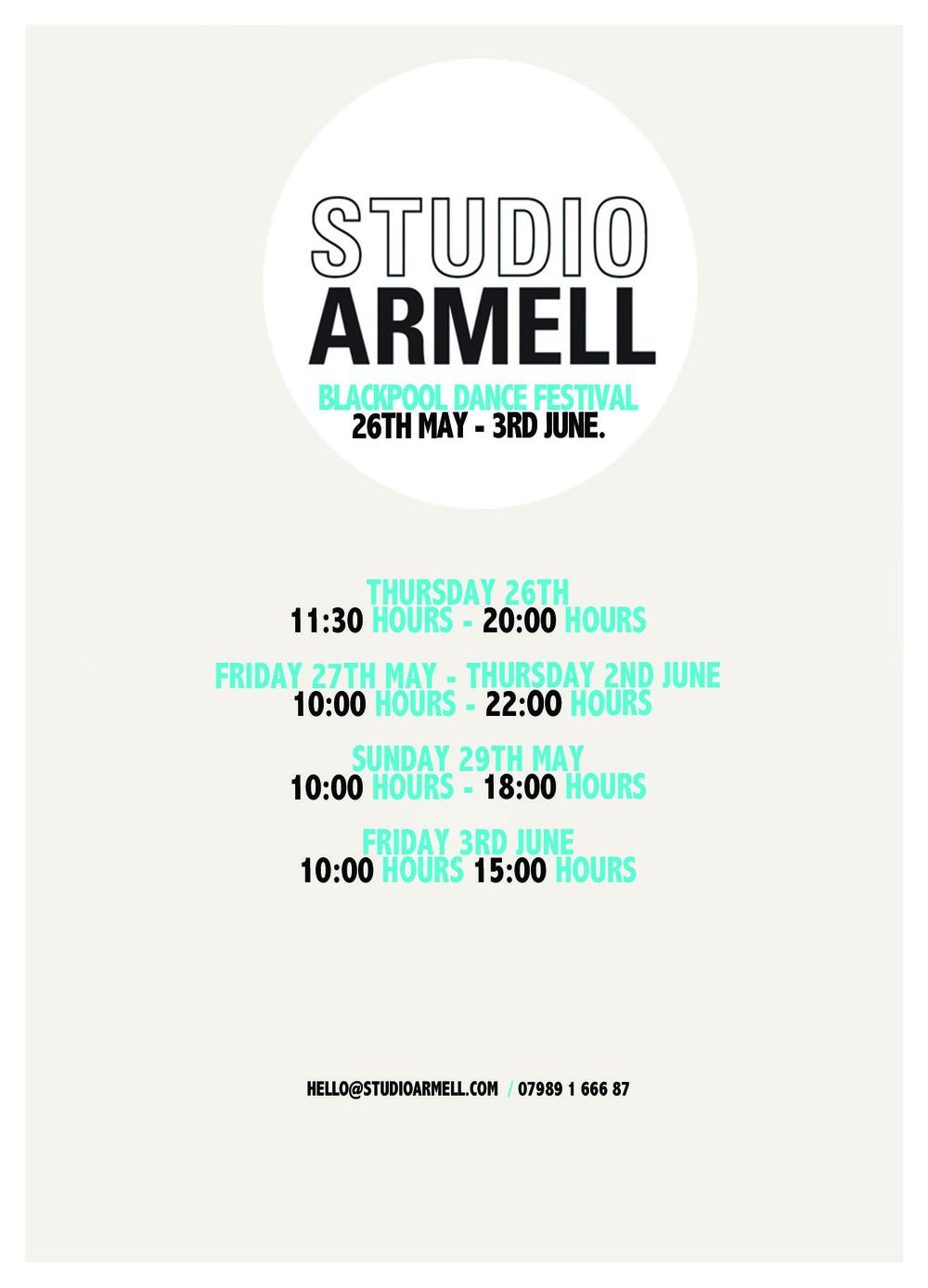 blackpool dance festival exhibition 2016 studio armell