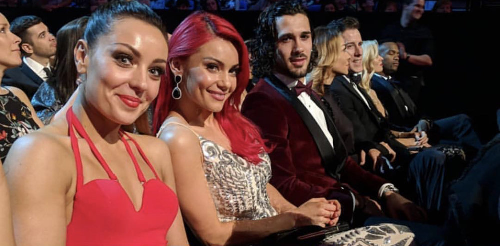 Amy with fellow Strictly pros Dianne Buswell and Graziano Di Prima